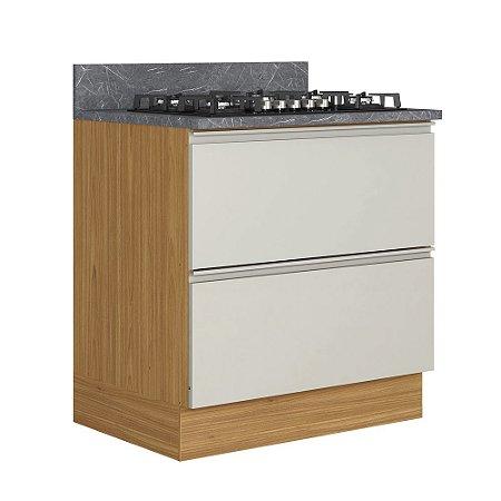 Balcão 80 Cozinhas Itatiaia Inova 1 Porta Horizontal 1G Off White