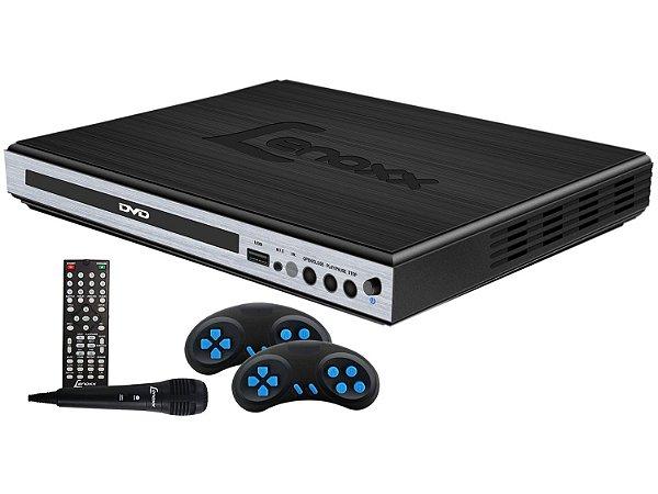 DVD Player Lenoxx DK420 Função Karaokê Conexão USB Microfone