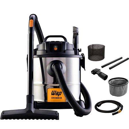 Aspirador Wap Gtw Inox 20 Litros 1600w Pó E Água - 220v