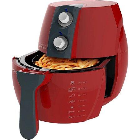Fritadeira Sem Óleo Light Fryer Frt541 Cadence 127 Vermelha