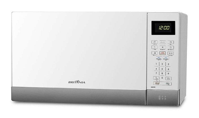 Micro-ondas Britânia 26 Litros BMO26IB Menu Fit Branco Inox 127v