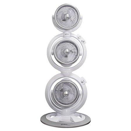 Ventilador Torre Triplo Turbo Spirit Maxximos Steel Branco 110v