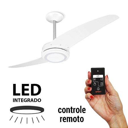 Ventilador de Teto Spirit 203 LED Branco Controle Remoto 110v