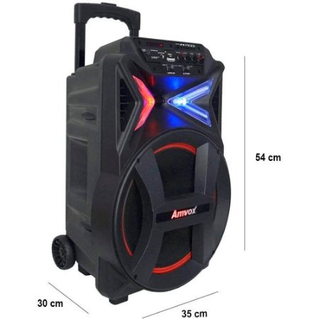 Caixa Som Amplificada Portátil Bluetooth 290w Amvox 292