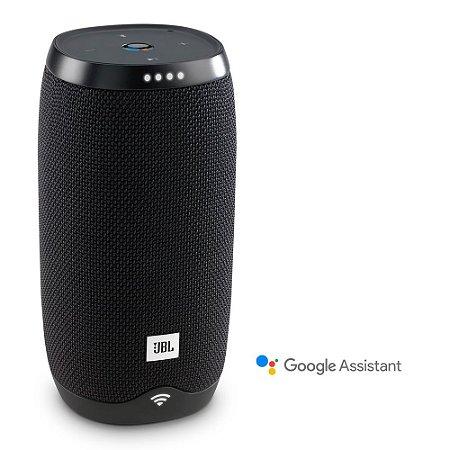 Caixa de Som Portátil Wi-Fi Voz Google JBL 16W Preta LINK10