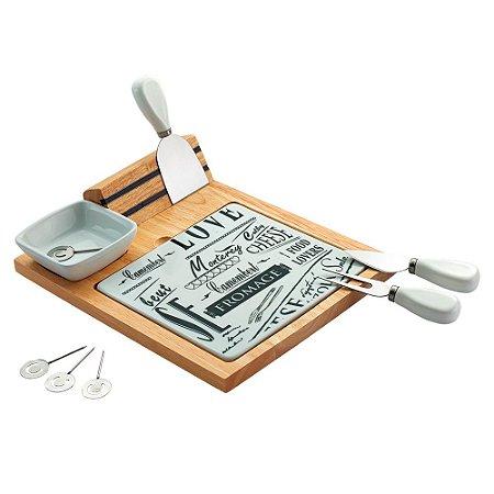 Conjunto para Queijo Haus Trento Branco 10 peças Brinox