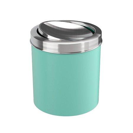 Lixeira Com Tampa Basculante Inox 5,4 Litros Verde Coza