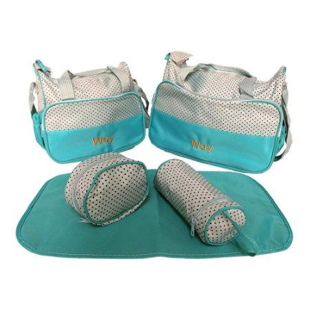 Kit Bolsa De Maternidade Com 5 Peças Azul Importway