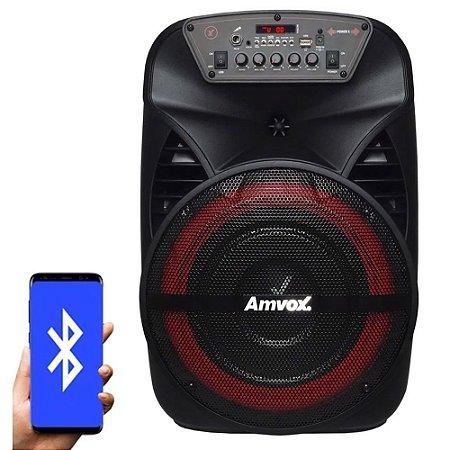 Caixa de Som Amplificada Amvox 280W ACA 280 Black Bivolt