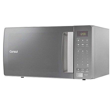 Micro-ondas Espelhado 32 Litros Cinza CMS45AR Consul 127v