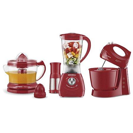 Conjunto Especial Kit Gourmet II Red KT-70 Mondial 127v