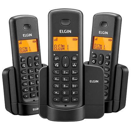 Telefone Sem Fio + 2 Ramais TSF 8003 Com ID Chamadas Elgin
