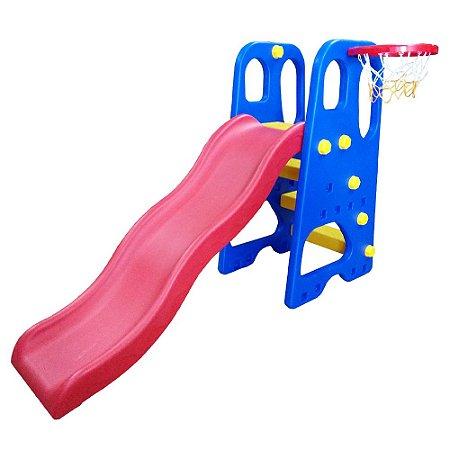 Playground Infantil 2x1 Escorregador e Cesta BW053 Importway