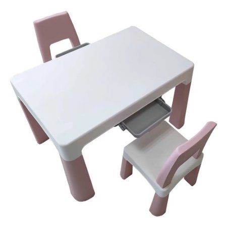 Conjunto de Mesa Infantil 2 Cadeiras Rosa BW090 Importway