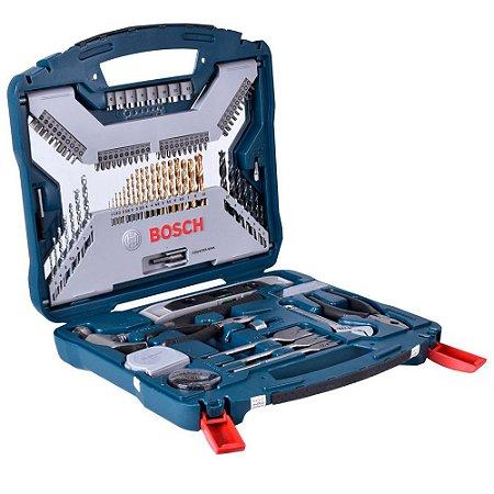 Estojo Kit Jogo Ferramentas 103 Peças X-Line X103TiN Bosch