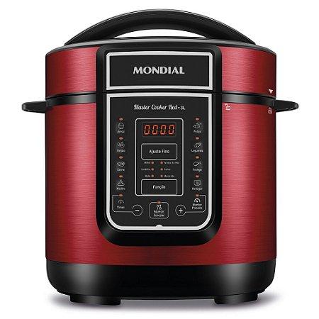Panela De Pressão Elétrica Digital Master Cooker Red 3L Mondial 220v