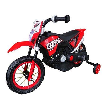 Mini Moto Cross Eletrica Infantil Vermelha BW083 Importway