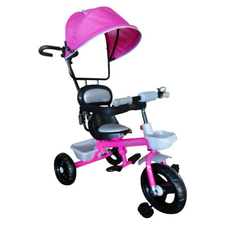 Triciclo Infantil 2x1 Velotrol Capota BW084 Rosa Importway