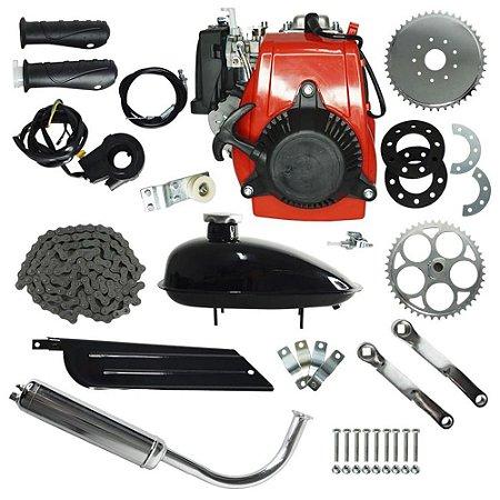 Kit Motor 4 Tempos 49CC Gasolina Bicicleta IWMB-049G Importway