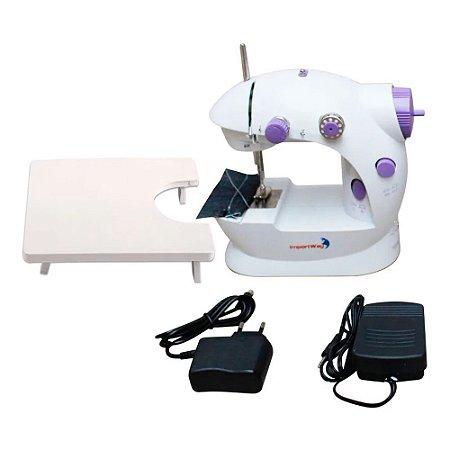 Mini Máquina de Costura Portátil IWMC507M Bivolt Importway