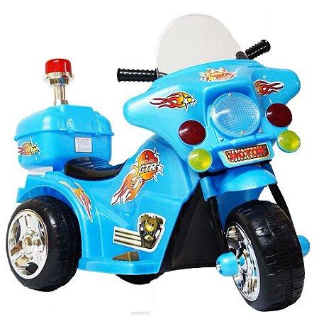 Mini Moto Elétrica Infantil Recarregável BW006-AZ Importway