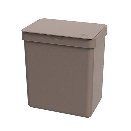 Lixeira 2,5l Warm Gray Single Coza 16,4x11,8x18,5cm Brinox