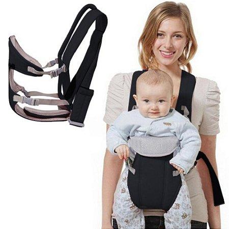 Canguru Conforto Porta Bebê 3x1 Preto IWPB Importway
