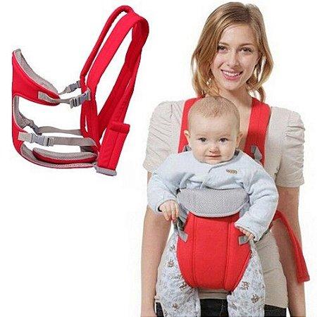 Canguru Conforto Porta Bebê 3x1 Vermelho IWPB Importway
