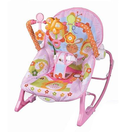 Cadeira Descanso Bebê Vibração e Som Rosa BW094 Importway