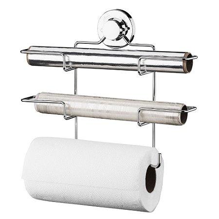 Suporte Papel Toalha/Alumínio/Pvc Aço Cromado 4018 Future