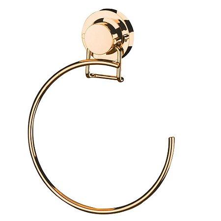 Toalheiro Argola 18 Ventosa Aço Rosé Gold 4057RG Future