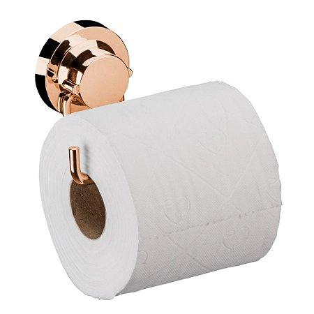 Suporte Papel Higiênico Ventosa Aço Rosé Gold 4055RG Future