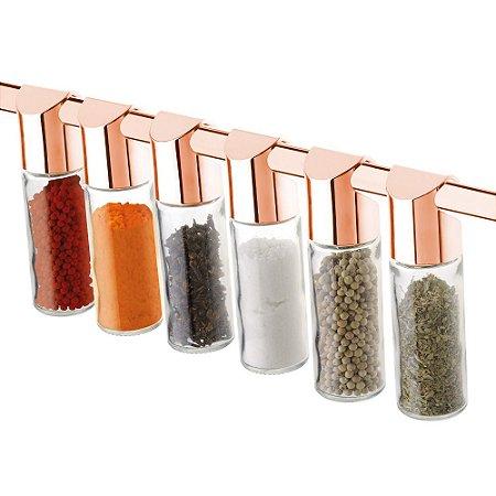 Vidros Para Condimentos 6 Peças Rosé Gold 2421RG Future