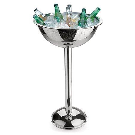 Champagneira Com Pedestal 69cm Aço Inox 12,2l Forma