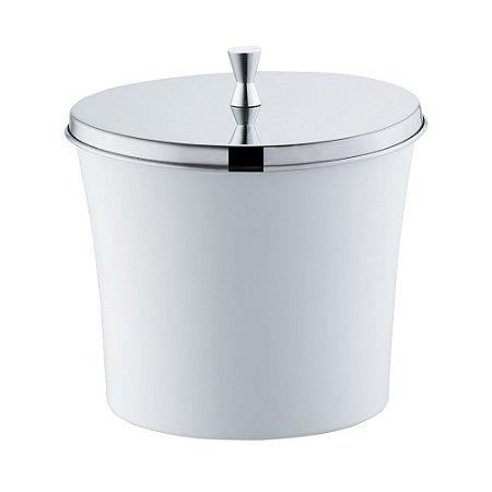 Lixeira Com Aro Para Banheiro 3 Litros Branca Forma