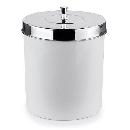 Lixeira Com Aro Para Banheiro 5 Litros Branca Forma