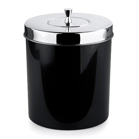 Lixeira Com Aro Para Banheiro 5 Litros Preta Forma