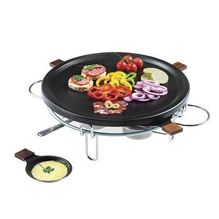 Raclette-Grill 8 Peças 4 Pessoas 37cm Aço Cromado Forma