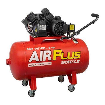 Compressor de Pistão Air Plus CSV 10/100 2HP Schulz 220v