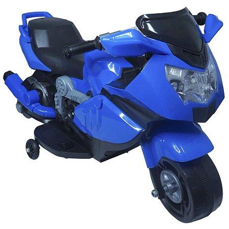 Mini Moto Elétrica Infantil 6V Azul BW-044AZ Importway