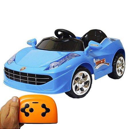 Mini Carro Elétrico Infantil 6V Azul BW-097AZ Importway