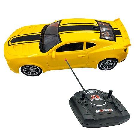 Carrinho Controle Remoto Camaro 1:16 Amarelo BW025 Importway