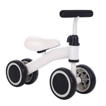 Triciclo Balance Infantil 4 Rodas Branco BW107 Importway