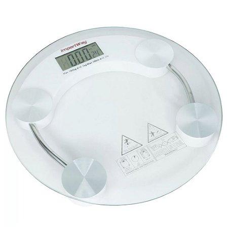 Balança Digital Banheiro Vidro 180Kg IWBDB001 Importway