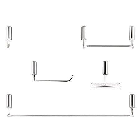 Kit de Acessórios Banheiro Docol Idea Chrome 5 Peças