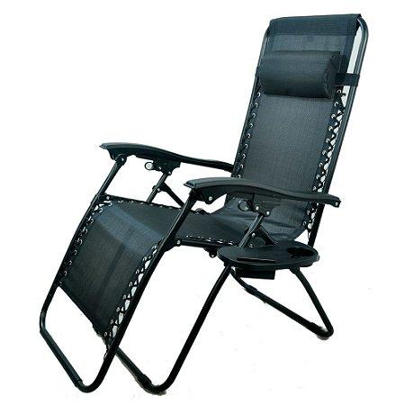 Cadeira Espreguiçadeira 21 Posições IWCE021 Preto Importway