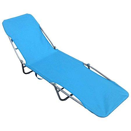 Cadeira Espreguiçadeira Textilene IWCET001 Azul Importway