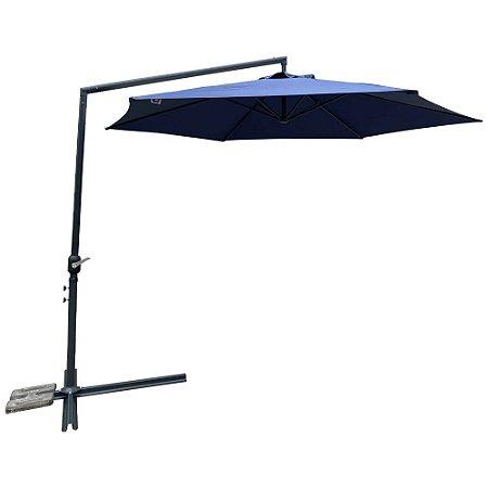 Ombrelone Suspenso Lateral 3m IWOS300AZ Azul Importway
