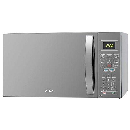 Micro-Ondas Espelhado Philco PMO26ES 26L 1400W Prata 220v