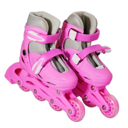 Patins 4 Rodas 64mm Inline Rosa P BW-018R Importway